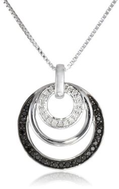#blackdiamondgem Sterling Silver 1/4cttw Black and White Diamond Circle Pendant Necklace, 18″ by Amazon Curated Collection - See more at: http://blackdiamondgemstone.com/jewelry/necklaces/pendants/sterling-silver-14cttw-black-and-white-diamond-circle-pendant-necklace-18-com/#sthash.TaDpdvw3.dpuf