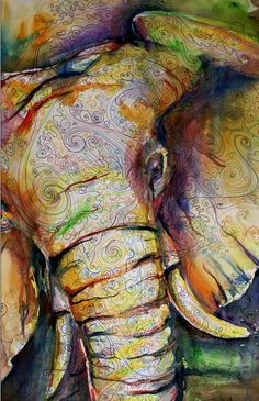 """Watercolor Elephant"" Artist: Kit Sunderland"