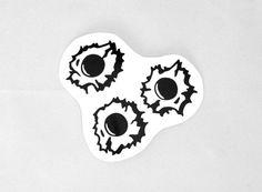 Bullet Holes Roller Derby Helmet Vinyl Sticker / Vinyl Decal gun shot on Etsy, $3.00