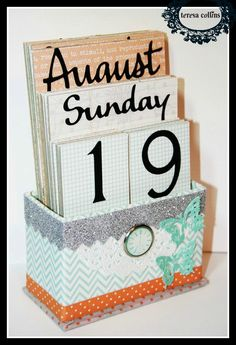 CUTE!! TERESA COLLINS DESIGN TEAM: Perpetual Calendar by Yvonne Blair