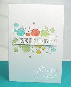 Love the colorful background made with the Gorgeous Grunge stamp set
