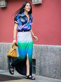 Breaking: The Maxi Skirt Just Got Cool Again—Here's How to Wear It via @WhoWhatWearUK