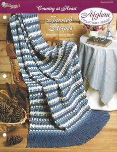 💁🏼 Crochê lListra da Herança Criações Afegão Padrão -  /  💁🏼 Crochet Stripe Heirloom Afghan Pattern Creations -