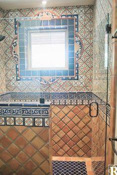 Mexican Style Decor, Spanish Style Decor, Spanish Style Homes, Spanish Style Bathrooms, Spanish Bathroom, Spanish Tile, Moroccan Bathroom, Spanish Kitchen, Spanish Design