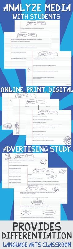 Analyze media with in-depth tools. Your students will think about the advertising they see in print, digital, and online formats with this print and teach activity.