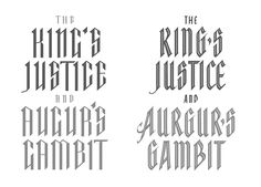 Hand lettering for a variety of clients and purposes