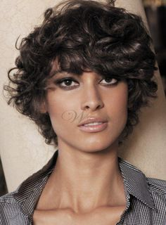 Fashion Stylish Short Curly 100% Human Hair Wig for Black Women 8 Inches