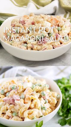 Try this easy macaroni salad recipe with egg in the Instant Pot It s a creamy macaroni salad with mayonnaise Summer side dish idea Food Video recipe video Easy Salad Recipes, Healthy Diet Recipes, Side Dish Recipes, Healthy Foods, Healthy Eating, Creamy Macaroni Salad, Hawaiian Macaroni Salad, Creamy Pasta, Instant Pot