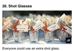Customized Shot Glasses | Wedding Favors