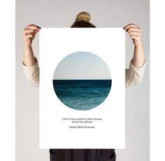 """Poster Print, Digital Download, """" Live In The Sunshine, Swim The Sea, Drink The Wild Air"""" Ralph Waldo Emerson Quote, Photography Poster by TheDesignHouzz on Etsy"""