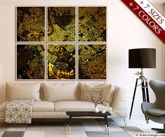 Rome map art #map #rome #art #italy #room #framed #gold #style #interior