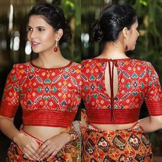 We don t sell any products if you like this post pl save it and tag your friends dm for credits or removal of this post blouse… Blouse Back Neck Designs, Cotton Saree Blouse Designs, Stylish Blouse Design, Fancy Blouse Designs, Blouse Designs Wedding, Indian Blouse Designs, Choli Designs, Saree Blouse Patterns, Churidar