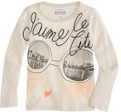 J.Crew Girls' long-sleeve Olive in NYC tee on shopstyle.com