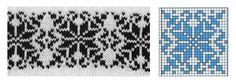 snowflakes jacquard pattern