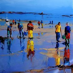 eric lepape - Google zoeken Classic Paintings, Beach Painting, Painting People, Seascape, Watercolor Landscape, Seascapes Art, Seaside Paintings, Landscape Art, Pictures To Paint
