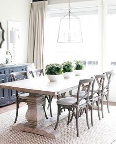 Related posts: 75 Modern Farmhouse Dining Room Decor Ideas 53 Cool Farmhouse Dining Room Decor Ideas Gorgeous 30 Modern Minimalist Dining Room Design Ideas for Comfortable Dinner With Your Family 46 idee viventi e idee per il 2019 – Isabelle Style Cottage Dining Rooms, Dinning Room Tables, Dining Room Wall Decor, Dining Room Lighting, Dining Room Design, Curtains In Dining Room, Dining Room Windows, White Dining Table, Dining Room With Buffet