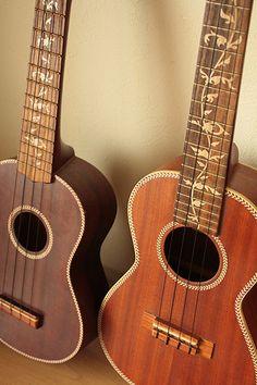 Gold decals for ukulele