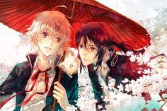 pretty art Shiro and Kuroh and Neko