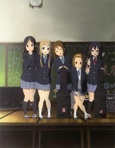 K-On!   Kakifly   Kyoto Animation / Hirasawa Yui, Tainaka Ritsu, Akiyama Mio, Kotobuki Tsumugi, and Nakano Azusa