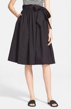 kate spade new york tie waist poplin skirt available at #Nordstrom