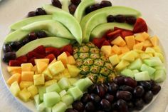 fruit palm tree made with pineapple and fruit - Google Search