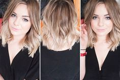 Medium Ombre Hair. Cute...Kinda short...but I need something new. My hair is blah!!!! I am getting ombre no matter if I cut my hair or keep it the same. =) I miss the ombre!