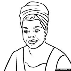 100 free coloring page of maya angelou color in this picture of maya angelou