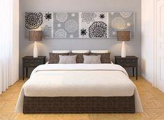 Conjunto de 4 telas painel pintada à mão nas cores cinza, preto e branco. Valor do conjunto. Tamanho de cada tela 60X60cm. Não precisa de moldura.