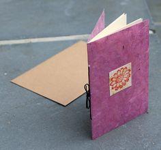 4-Page Story Card of Purple Korean Hanji Paper, 3.75x5.5 (Sushmita)