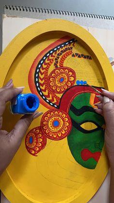 Rajasthani Art, Pottery Painting Designs, Madhubani Painting, Mini Canvas Art, Indian Art Paintings, Mural Painting, Watercolor, Drawing, Creative