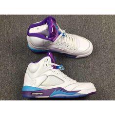 9b99fb7eb69 air jordan 4 mens retro hornets white blue purple Air Jordan Shoes, Air  Jordan 3