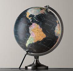 Earth Desk Globe 13D x 16.5H