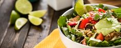 CALORIES PROTEIN CARBS FAT 390 31g 45g 11g   Craving your favorite Mexican food without all the grease? This burrito bowl is loaded with healthy ingredients, so you can enjoy ... Read More
