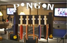 Pongon Wall Mount Table Tennis / Ping Pong Paddle and Ball Holder Pongon http://www.amazon.com/dp/B00HKJ8SS0/ref=cm_sw_r_pi_dp_m3khub0E6BNMJ
