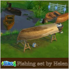 Fishing set at Helen Sims • Sims 4 Updates