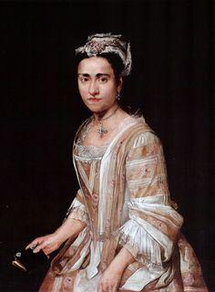 1725 Giacomo Ceruti - Portrat of a lady (Clelia Calini Martinengo di Villagana) 18th Century Clothing, 18th Century Fashion, 17th Century, European Dress, European Fashion, European Style, Mode Rococo, Rococo Fashion, 18th Century Costume