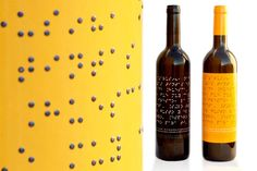 Lazarus Wine is made by people who are blind and has a Braille label (design by Baud)