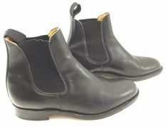 Sanders Mens 8.5 Chelsea Black Leather Ankle Boots Made in England  #Sanders #AnkleBoots