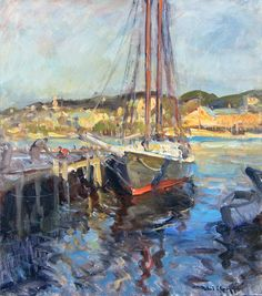 Current Offerings at the Gruppé Gallery Monet, Modern Impressionism, Cool Art, Awesome Art, Paris, Abstract Landscape, New Art, New England, Boats