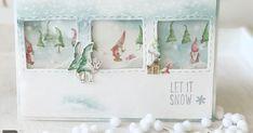 obwohl einem das Wetter im Sommer wähnt habe ich mich ganz dem Schneegestöber hingegeben in der KreativBox Oktober sind nämlich... Inchies, Christmas Cards, Xmas, Stampin Up, Paper, Box, Frame, Handmade, Cards