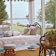 Classic Coastal Porch - 11 Dreamy Sleeping Porches - Coastal Living