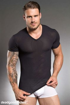If you've been hitting the gym hard then show off your manly bod in this HOM Sport Adaptive T-shirt! A great piece of workout kit because it is aerated and super stretchy. #sports #gear #men #deadgoodundies #tees