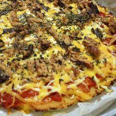 Receita de massa de pizza de couve-flor