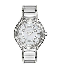 Michael Kors Kerry Pavé Silver Watch