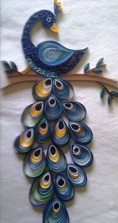 19 Quick Paper Quilling Ideas For Beginners – Quilling Techniques Peacock Quilling, Arte Quilling, Paper Quilling Cards, Quilling Letters, Paper Quilling Flowers, Quilling Work, Paper Quilling Patterns, Origami And Quilling, Quilled Paper Art