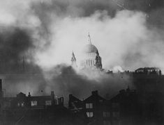St Pauls Cathedral WWII - Icon saved whilst East End burns.