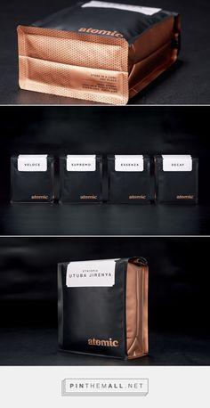 Atomic Coffee — The Dieline - Branding  amp  Packaging - created via http   29d32864b47