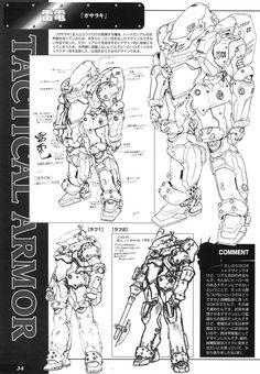 Rocketumblr | Yutaka Izubuchi Gasaraki 出渕裕 ガサラキ