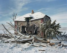 *Grossenbacher Homestead*, Sheridan County, Nebraska, 2013 Abandoned Houses, Abandoned Places, Book Photography, Amazing Photography, Andrew Moore, Chalk Hill, Roof Beam, Two Storey House, Native American Tribes