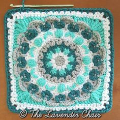 Chrysanthemum Mandala Square - Free Crochet Pattern Mandala Blanket CAL 2016- The Lavender Chair (1)